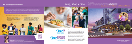 stop, shop + dine. keeping you informed