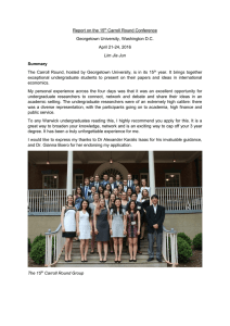 Report on the 15 Carroll Round Conference Georgetown University, Washington D.C.