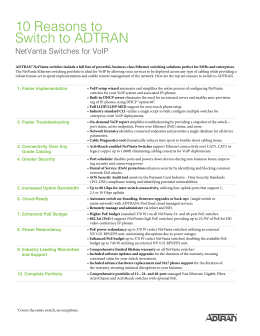 10 Reasons to Switch to ADTRAN NetVanta Switches for VoIP