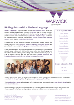 BA in Linguistics with What  is  Linguistics?