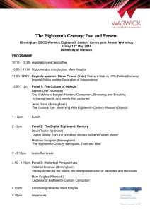 The Eighteenth Century: Past and Present