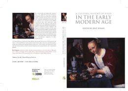 IN THE EARLY A CULTURAL HISTORY OF FOOD