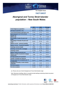 Aboriginal and Torres Strait Islander – New South Wales population