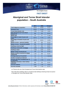 Aboriginal and Torres Strait Islander – South Australia population