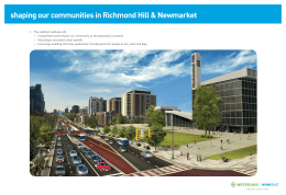 shaping our communities in Richmond Hill & Newmarket >