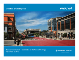vivaNext project update November 4, 2013 10/31/2013