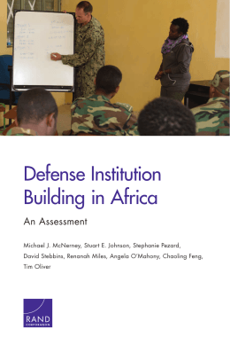 Defense Institution Building in Africa An Assessment