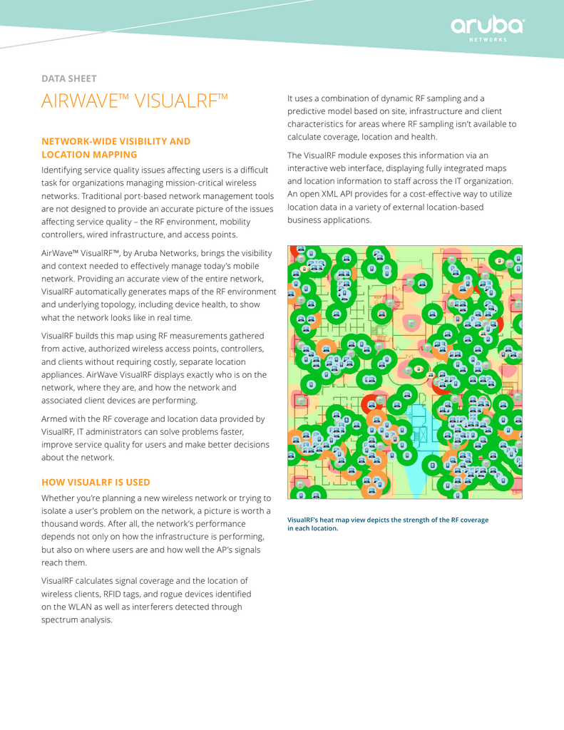 AIRWAVe VIsuALRF ™ data sheet