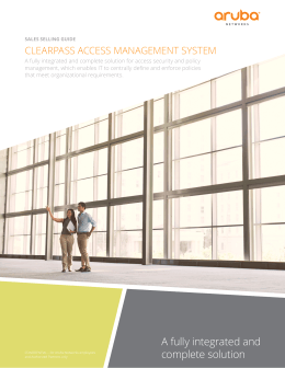 CLEARPASS ACCESS MANAGEMENT SYSTEM