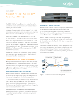 ArubA S1500 MobILITy ACCESS SWITCh data sheet
