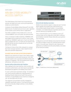 ArUbA S2500 MobILITy ACCESS SWITCh data sheet