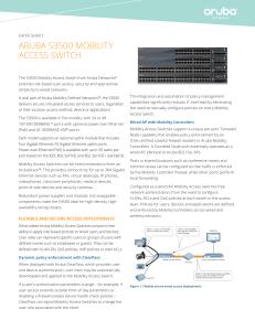 ArubA S1500 MobILITy ACCESS SWITCh data sheet