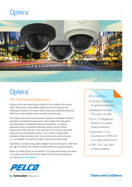 Optera The Panomersive Experience At a Glance ™