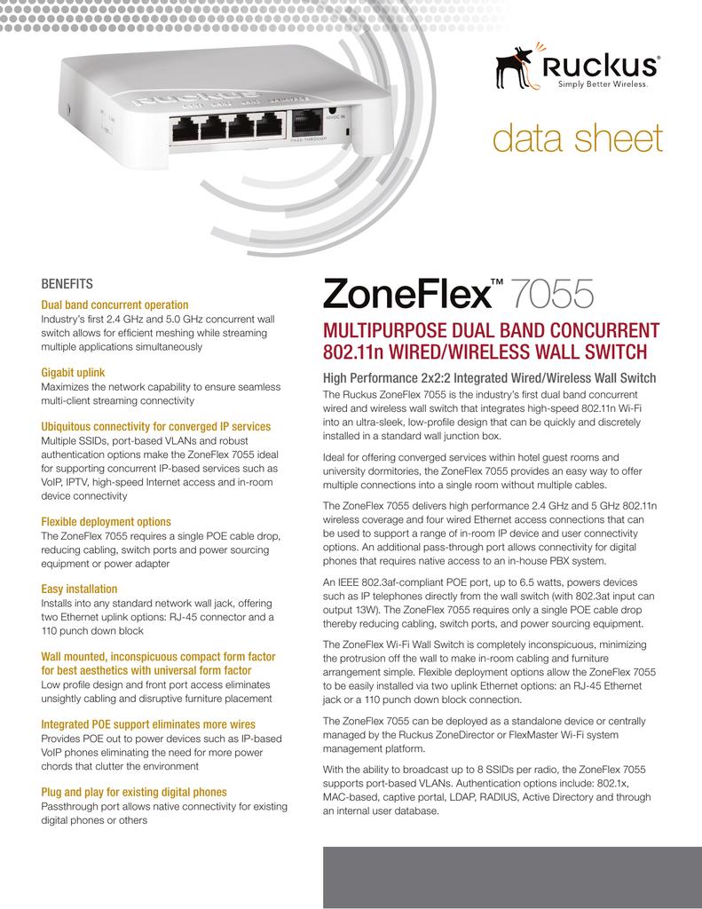 Zoneflex 7055 Data Sheet Option 2 Power To Switches