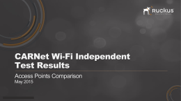 CARNet Wi-Fi Independent Test Results Access Points Comparison May 2015