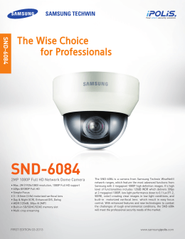 SND-6084 The Wise Choice for Professionals 2MP 1080P Full HD Network Dome Camera