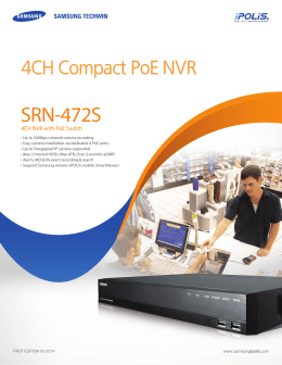 SRN-472S 4CH Compact PoE NVR 4CH NVR with PoE Switch
