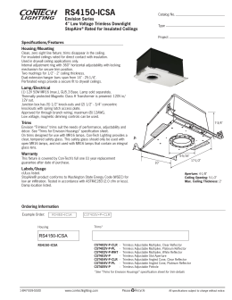 "RS4150-ICSA Envision Series 4"" Low Voltage Trimless Downlight StopAire"