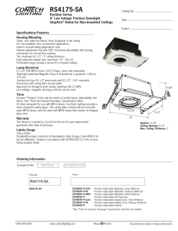 "RS4175-SA Envision Series 4"" Low Voltage Trimless Downlight StopAire"