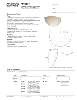 WS010 Spheris Compact Fluorescent Faux Alabaster Wall Sconce Specifications/Features