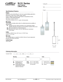 SL31 Series sirius lighting LUMINAL Pendant