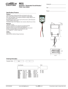REG Regulator™ Illuminated Circuit Breaker/ Power Limit Switch