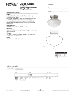 CM56 Series Incandescent Close-to-Ceiling Schoolhouse Ceiling Mount Fixture
