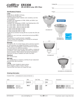 ER3308 8W LED MR16 Lamp, GU5.3 Base