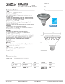LR1411D 11W LED PAR30S Lamp, E26 Base