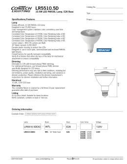LR5510.5D 10.5W LED PAR30L Lamp, E26 Base