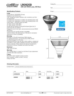 LR0920D 20W LED PAR38 Lamp, E26 Base