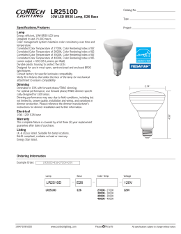 LR2510D 10W LED BR30 Lamp, E26 Base