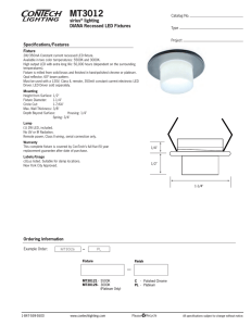 MT3012 sirius lighting DIANA Recessed LED Fixtures