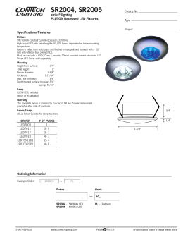 SR2004, SR2005 sirius lighting PLUTON Recessed LED Fixtures
