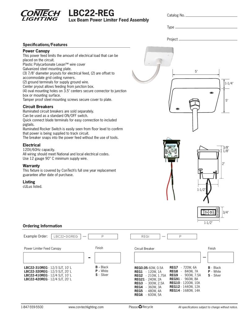 Lbc22 Reg Lux Beam Power Limiter Feed Assembly Ir Breaker