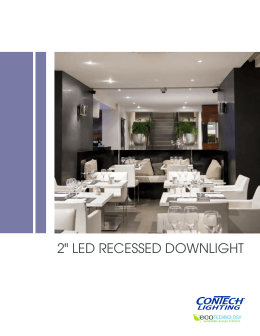 "2"" LED RECESSED DOWNLIGHT"