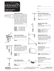 Flexible Track System and Accessories Catalog No. Type
