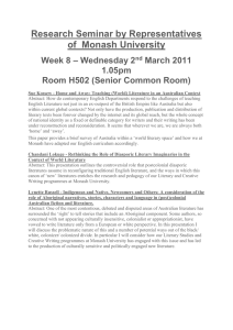 Research Seminar by Representatives of  Monash University – Wednesday 2 Week 8