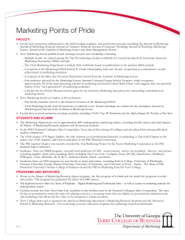 Marketing Points of Pride FACULTY