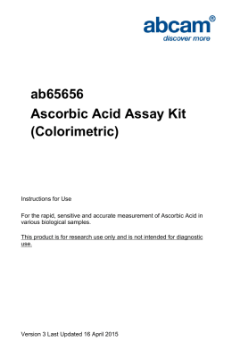 ab65656 Ascorbic Acid Assay Kit (Colorimetric)
