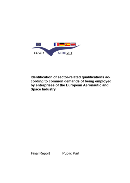 Identification of sector-related qualifications ac-