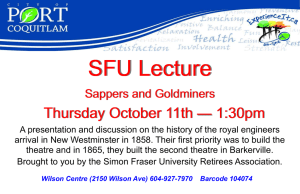 SFU Lecture Thursday October 11th  1:30pm