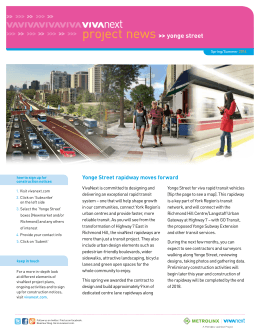 yonge street Yonge Street rapidway moves forward