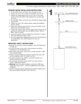 PENDANT MOUNT INSTALLATION INSTRUCTIONS