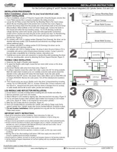 "For the ConTech Lighting 6"" and 8"" Flexible Cable Mount... INSTALLATION PROCEDURES Before installation, please refer to your local electrical code."