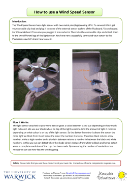 How to use a Wind Speed Sensor