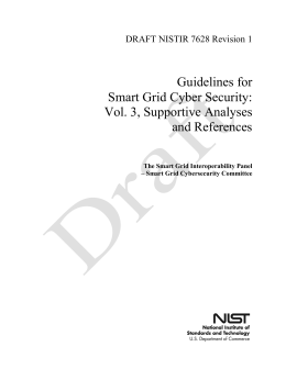 Guidelines for Smart Grid Cyber Security: Vol. 3, Supportive Analyses