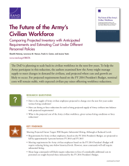 The Future of the Army's Civilian Workforce