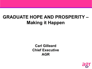 – GRADUATE HOPE AND PROSPERITY Making it Happen Carl Gilleard