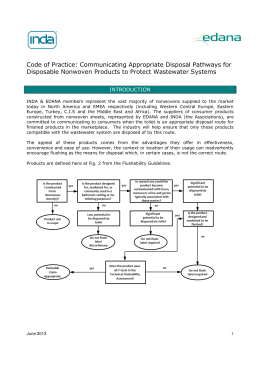Code of Practice: Communicating Appropriate Disposal Pathways for